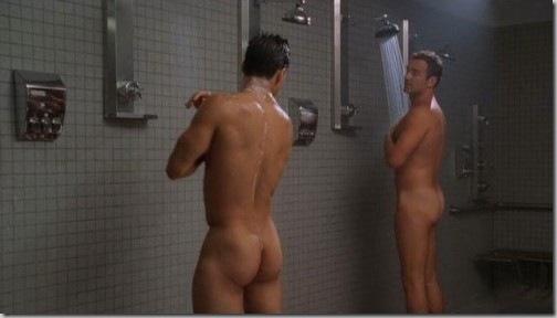 Nude girls shaving in the shower